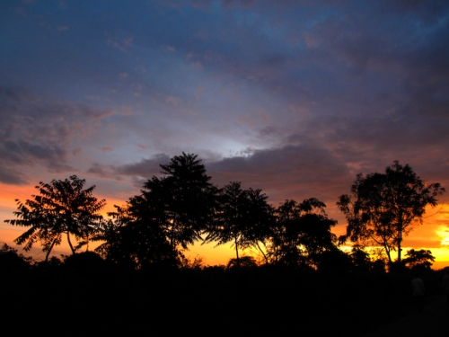 """Deep African Bush Sunset"" Canon G10 1/15 Sec F 2.8 ISO 100"