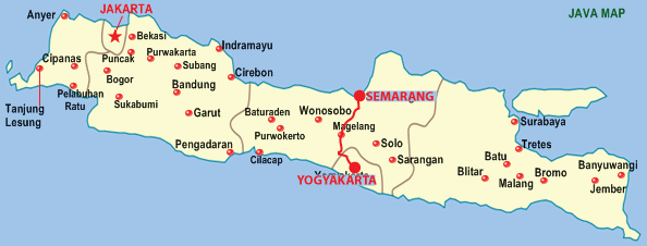 solo java indonesia map
