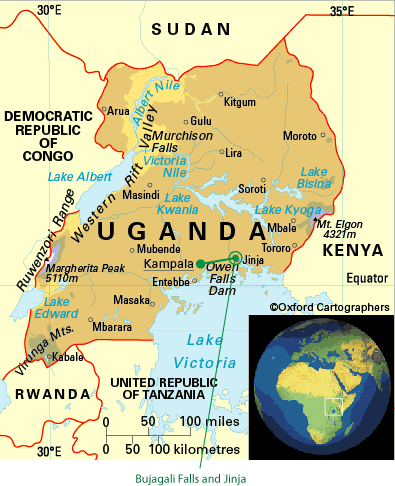 jinga_uganda_map