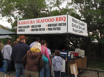 Kaikoura Seafood BBQ Stand