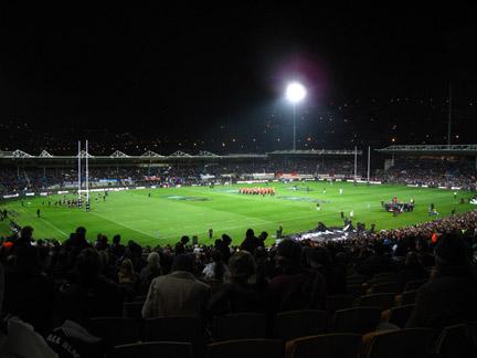 Carisbrooke Stadium. All Blacks vs France