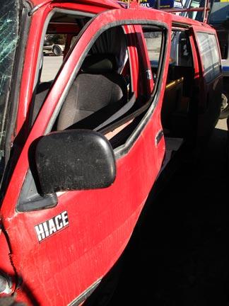 Buckled Passenger Side Door, Front