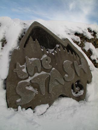 The Stash Concrete Sign