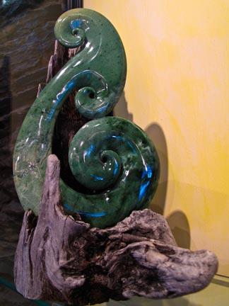 Large Jade Koru.  Symbolizes Harmony and New beginnings.