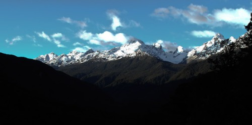 Pass Road Vista on Way to Milford Sound