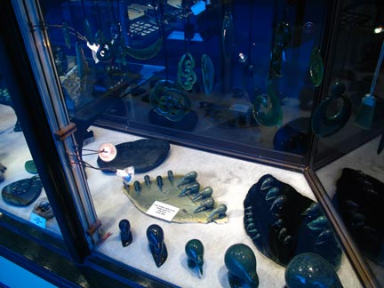 Another Window Display. Jade animal sculptures and pendants