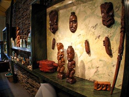 Wood Maori Sculptures