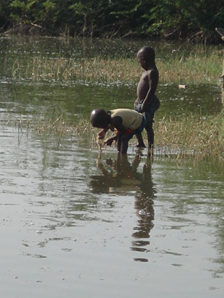 One of Marcy's photos.  Children in water