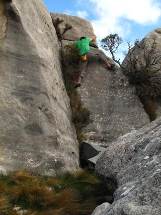 Dan Climbing