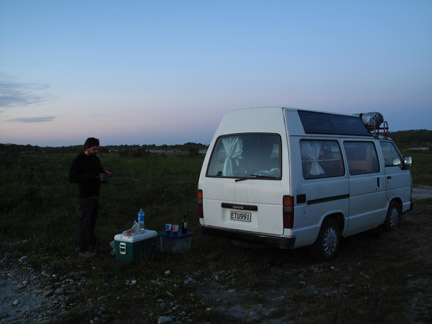 Camping in Haast