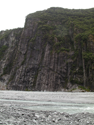 Glacial Carved Cliff Wall