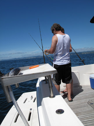 Rigging up the Poles for a Fish