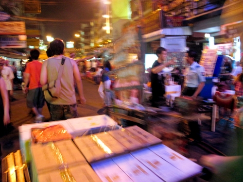 Hustle and Bustle of Late Night Khaosan