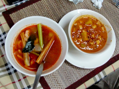 Tom yum and Marsamam Curry