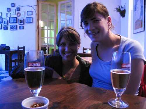 Bethany and Geneva, Our First Dinner In Peru