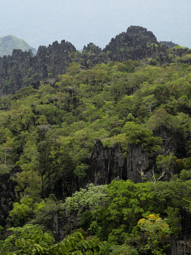 karst mountain ridge lines