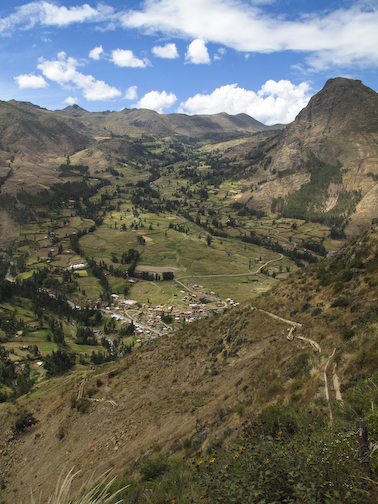 Pisac valley and surrounding farmlands.