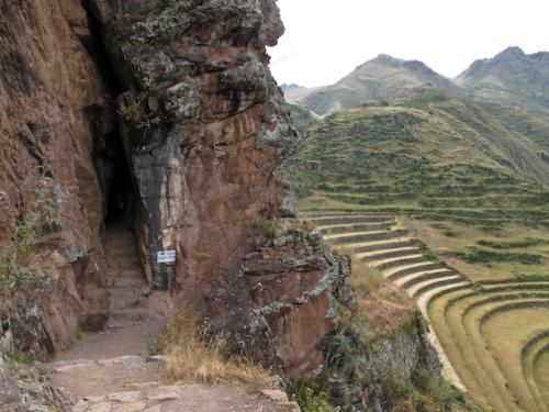 Cave passage along path.