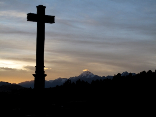 Cross and Sunset Mountains