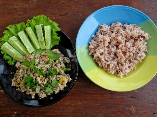 Laap and Brown Rice