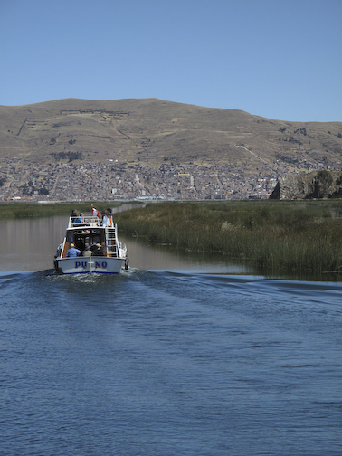 Lake Puno, looking back at the city.