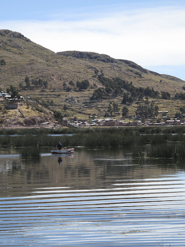 Fishermen on the lake.