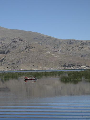 Fishermen on Lake Puno