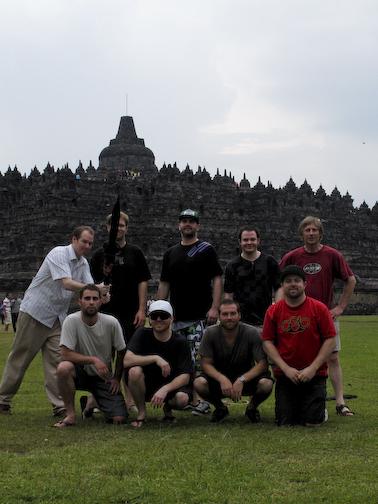 The POW Crew At Borobudur