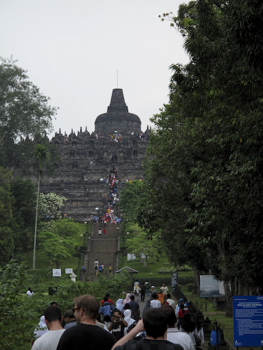 Borobudur.  The Largest Buddhist Temple In The World