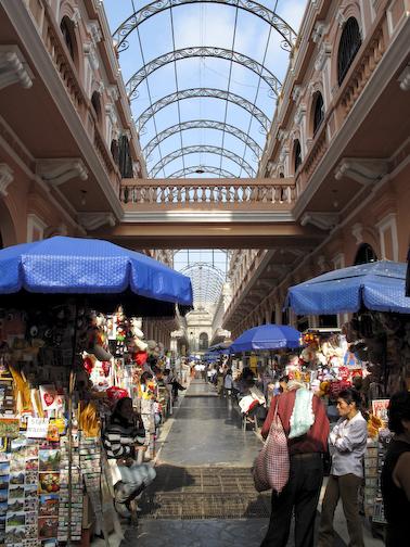 Shopping Street Along The Plaza