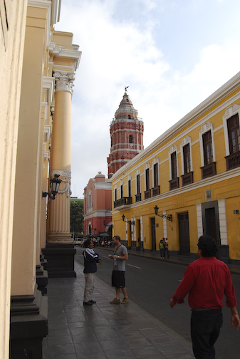 Surrounding street near the center of the city.