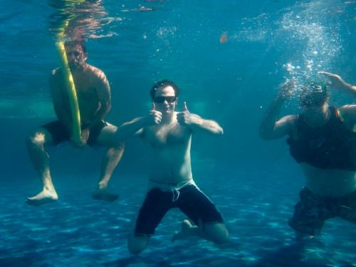 Pow Gloves Crew Underwater