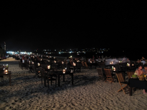 Dinner on the beach in Bali