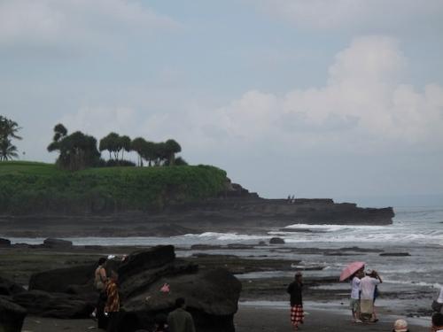 Coastline along Tanah Lot