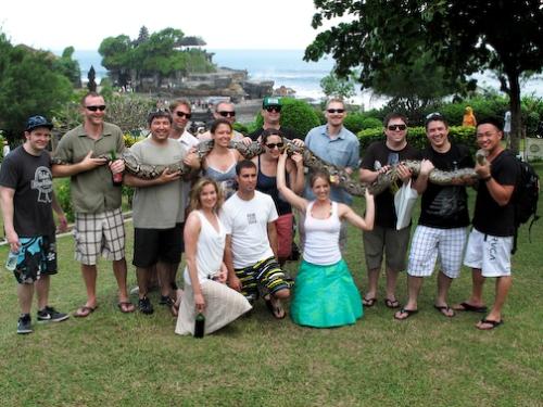 Wedding Group + One Massive Snake