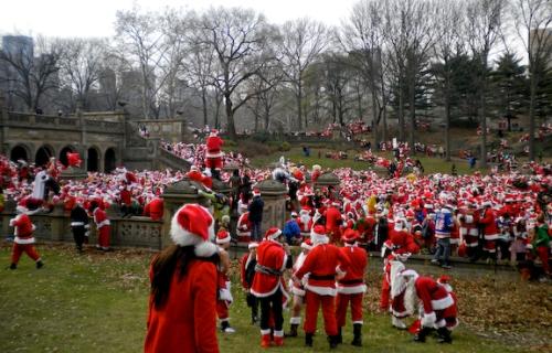 Santa is getting rowdy.