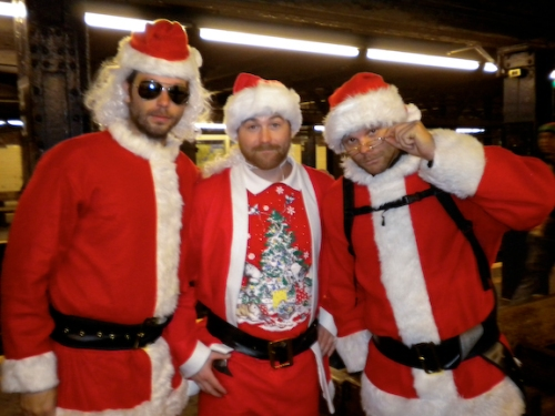 Santa Ryan, Santa Phil, Santa Timmy